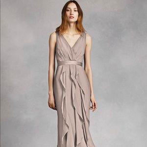 V-Neck Vera Wang Dress from David's Bridal